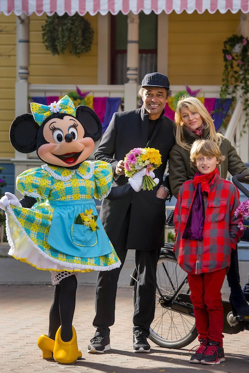 Yannick Noah fête le printemps à Disney