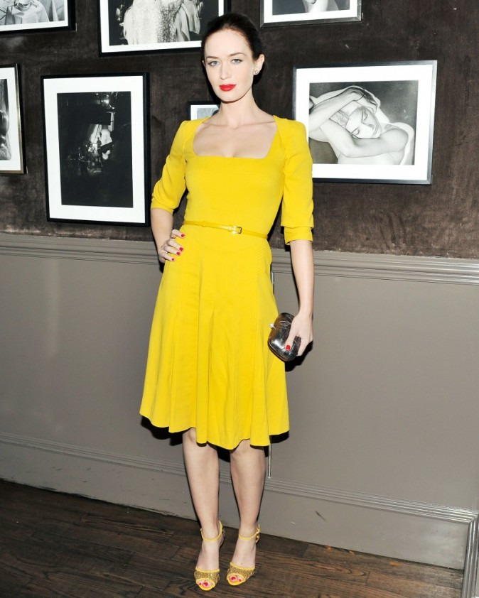 Emily Blunt lors du diner Elie Saab à New York, le 5 avril 2012.