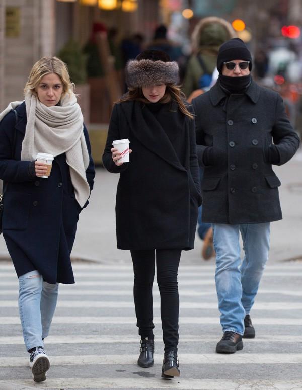Dakota Johnson à New-York le 16 février 2015