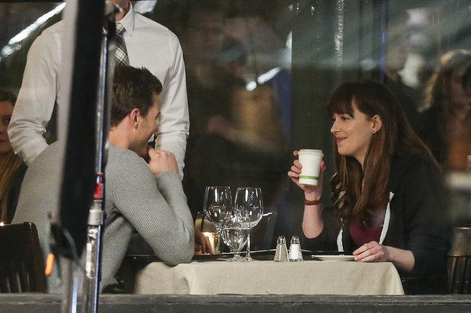 Dakota Johnson et Jamie Dornan ont tourné une scène d'amour