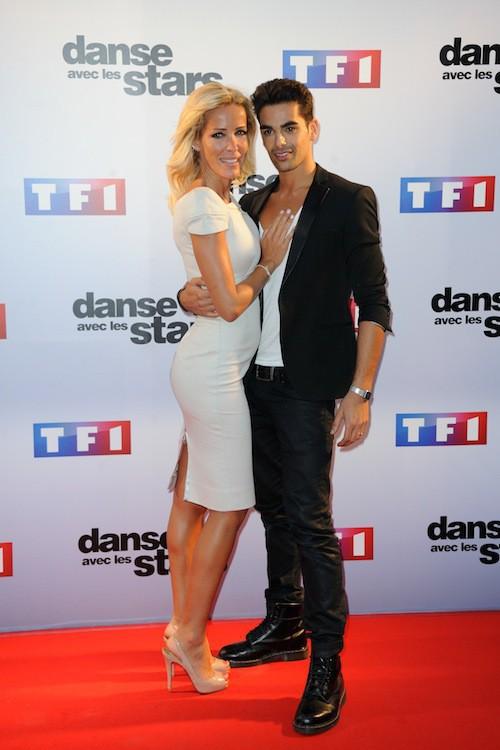 Ophélie Winter et Christophe Licata lors du Photocall DALS 5 à Paris le 10 septembre 2014