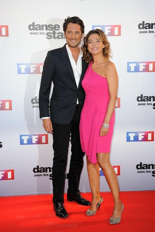 Sandrine Quétier et Vincent Cerutti lors du Photocall DALS 5 à Paris le 10 septembre 2014