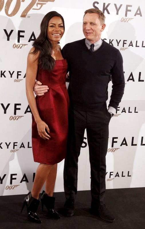 Daniel Craig et Naomie Harris le 29 octobre 2012 à Madrid