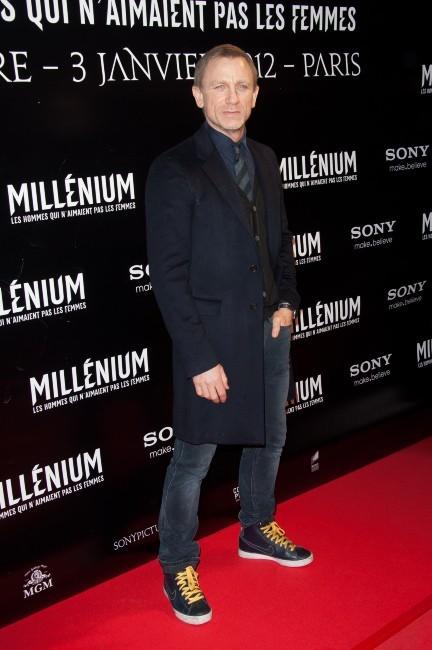 Daniel Craig lors de la première du film Millenium à Paris, le 3 janvier 2011.