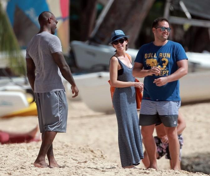 Dannii Minogue et Tyson Beckford à la Barbade, le 8 avril 2013.