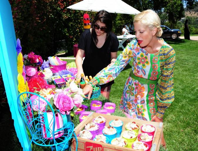 Tori Spelling à l'anniversaire de sa fille Stella, le 3 septembre 2013