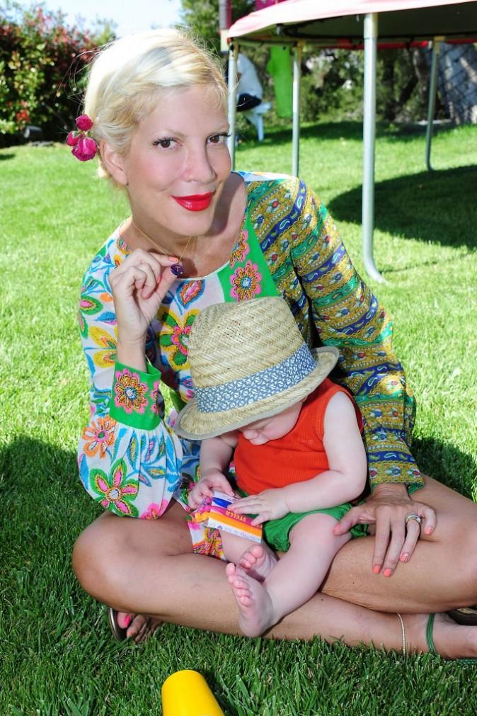 Tori Spelling et son fils Finn