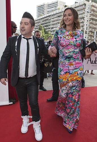 Chris Marques et Sandrine Quétier à Monte-Carlo le 8 juin 2014