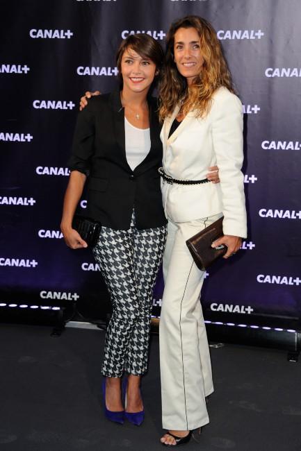 Emma de Caunes et Melle Agnès lors de la soirée de rentrée de Canal + à Paris, le 28 août 2013.