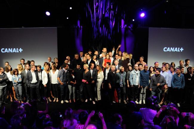 Soirée de rentrée de Canal + à Paris, le 28 août 2013.