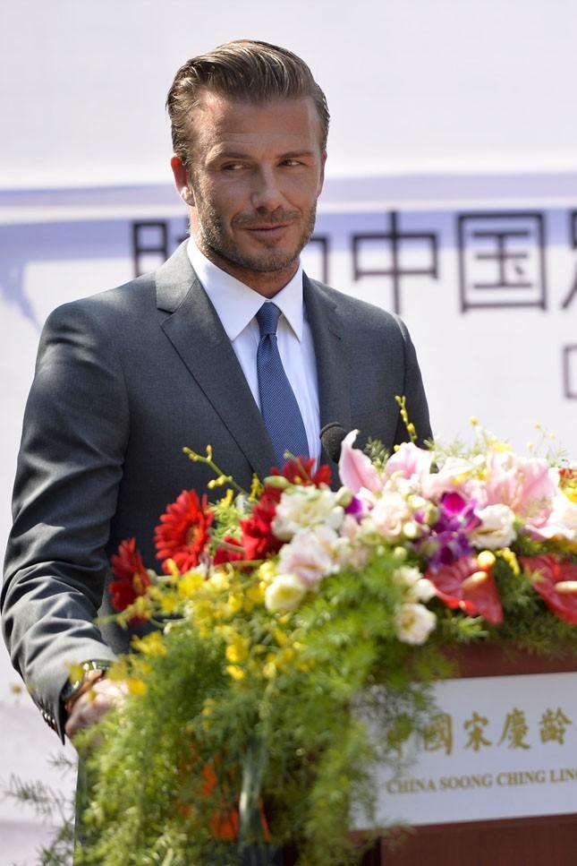 David Beckham à Pékin le 17 juin 2013