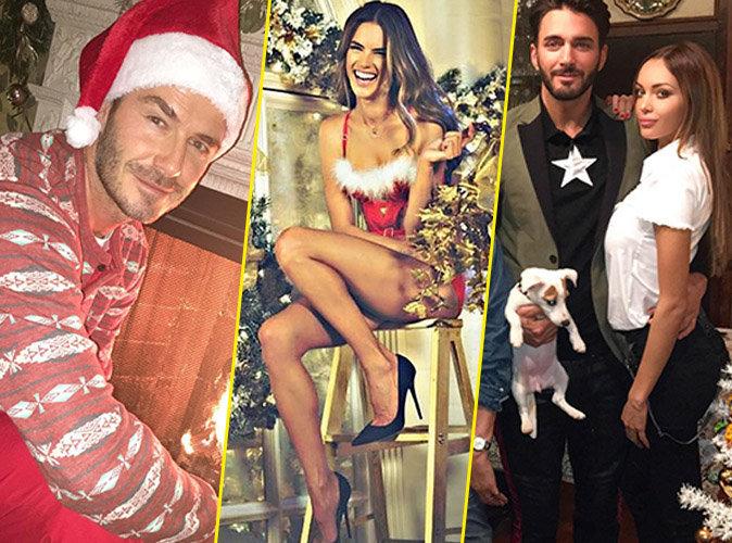 Photos : David Beckham, Alessandra Ambrosio, Nabilla... Revivez le noël des stars !
