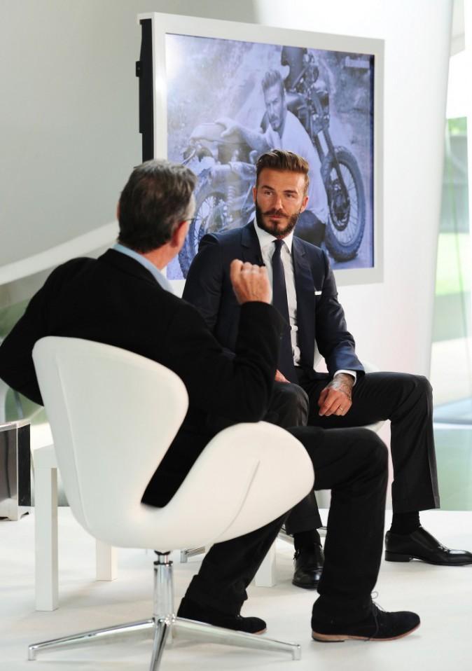 David Beckham en conférence de presse à Londres le 2 juin 2014