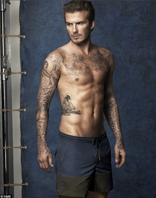 Photos : David Beckham : en maillot de bain H&M plutôt qu'en sous-vêtements mais toujours aussi hot !