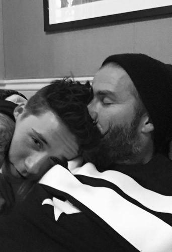 Photos : David Beckham : il célèbre les 16 ans de Brooklyn avec des photos touchantes !