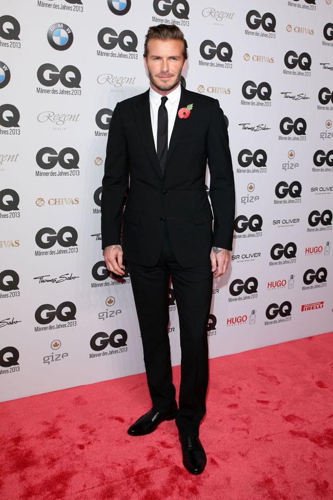 David Beckham à la cérémonie des GQ Men of the Year Awards organisée à Berlin le 7 novembre 2013