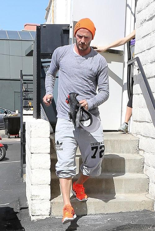 David Beckham à Los Angeles le 10 avril 2014