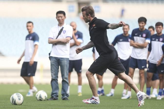 David Beckham à Nanjing, en Chine, le 18 juin 2013