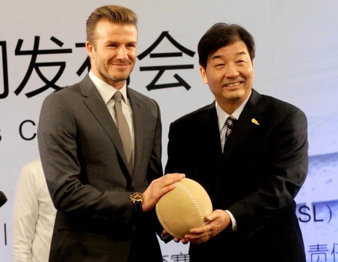 David Beckham le 20 mars 2013 à Pékin