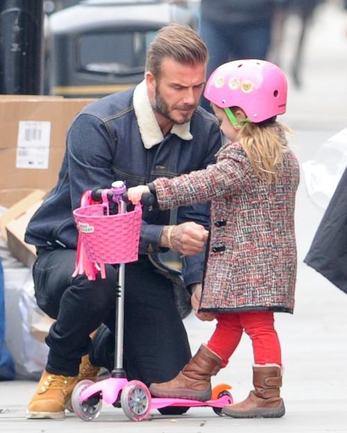 Photos : David Beckham : papa poule avec Harper, qui a bien grandi !