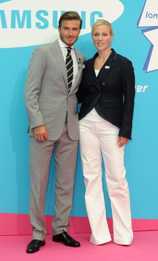 David Beckham et Zara Pillips, un duo choc pour soutenir les J.O de Londres...