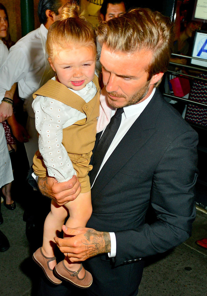 Photos : David Beckham : sa petite Harper le fait fondre en maillot de foot!