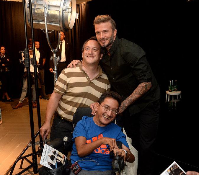David Beckham a posé avec ses fans