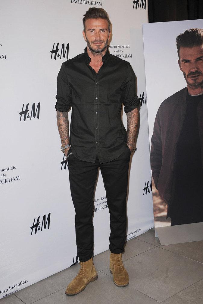 David Beckham est looké des pieds à la tête