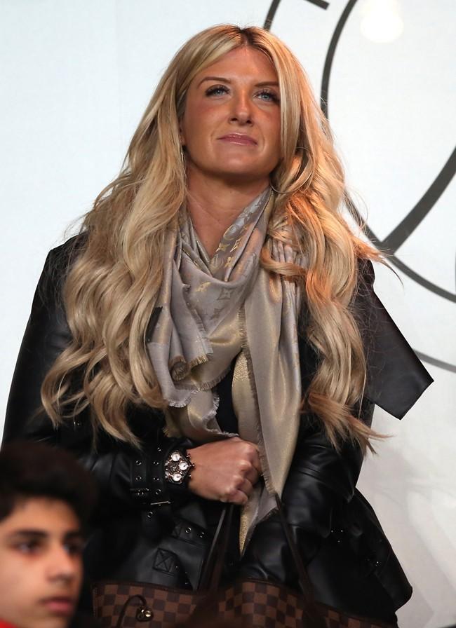 Joanne Beckham, la petite soeur de David, au Parc des Princes de Paris le 6 mars 2013