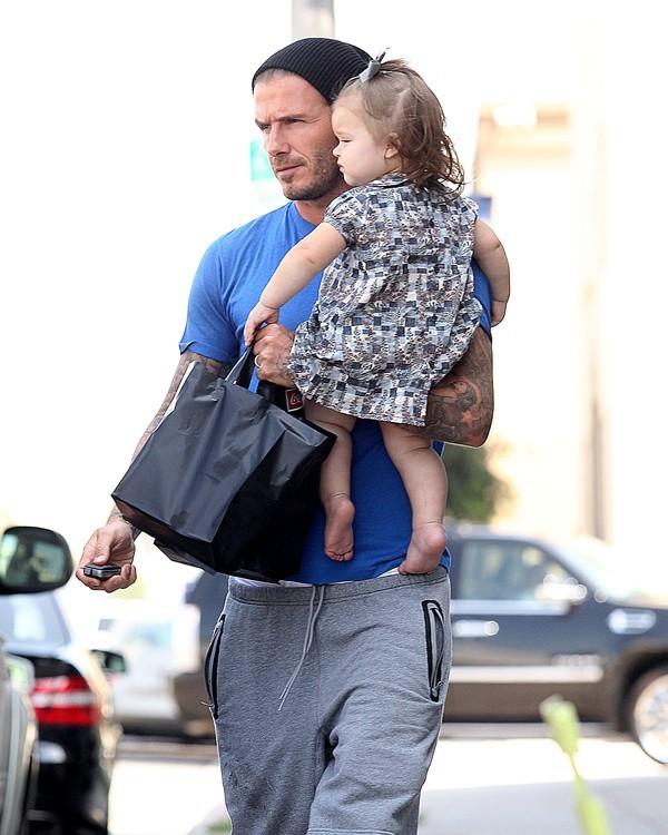 David Beckham à Los Angeles avec Harper Seven le 25 septembre