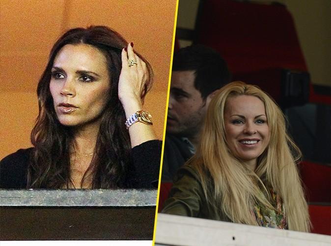 Victoria est souvent de la partie pour encourager son homme. Mais Helena n'a jamais manqué un seul match. Le point va à Zlatan !