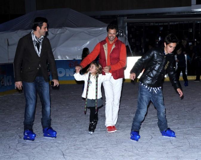 David Charvet en famille pour la première du spectacle Disney On Ice : Toy Story 3, à Los Angeles le 14 décembre 2011.