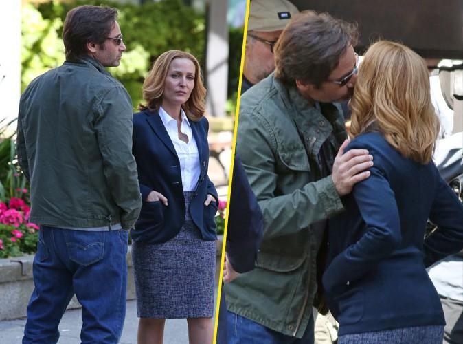 Photos : David Duchovny et Gillian Anderson (X-Files) : tendres retrouvailles sur le tournage de la nouvelle saison !