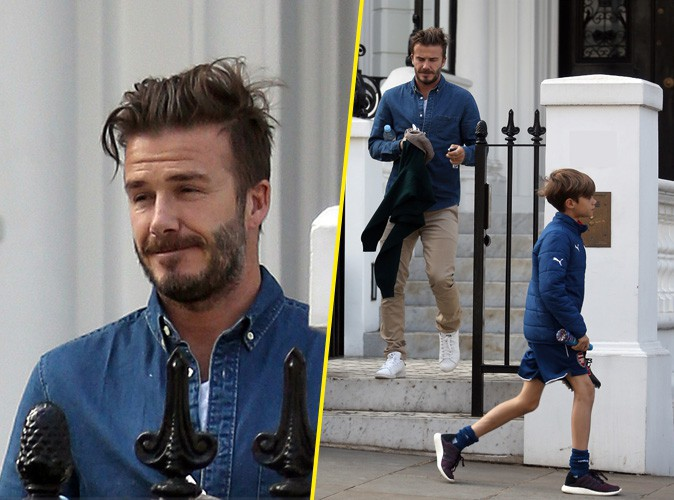 Photos : David et Romeo Beckham : virée entre hommes après une courte nuit de sommeil !