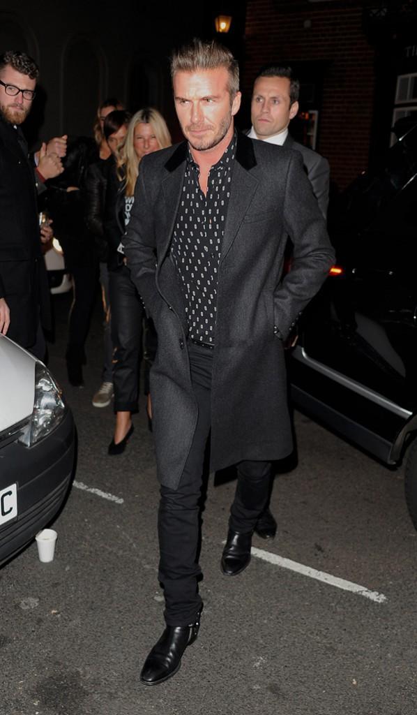 David Beckham à Londres le 20 novembre 2014