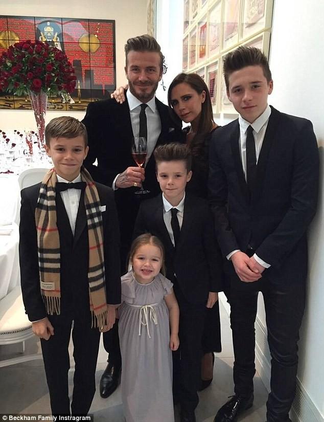 La famille Beckam au complet