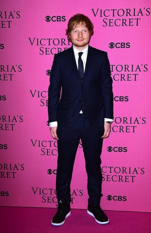 Ed Sheeran avant le défilé Victoria's Secret 2014, le 2 décembre