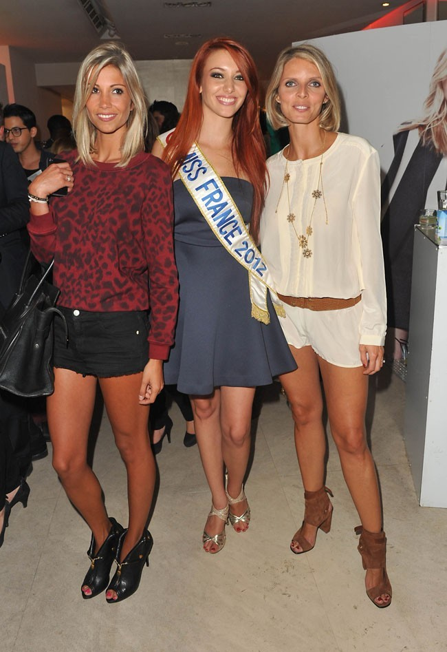 Alexandra Rosenfeld, Delphine Wespiser et Sylvier Tellier à la Vogue Fashion Night Out le 6 septembre 2012 à Paris