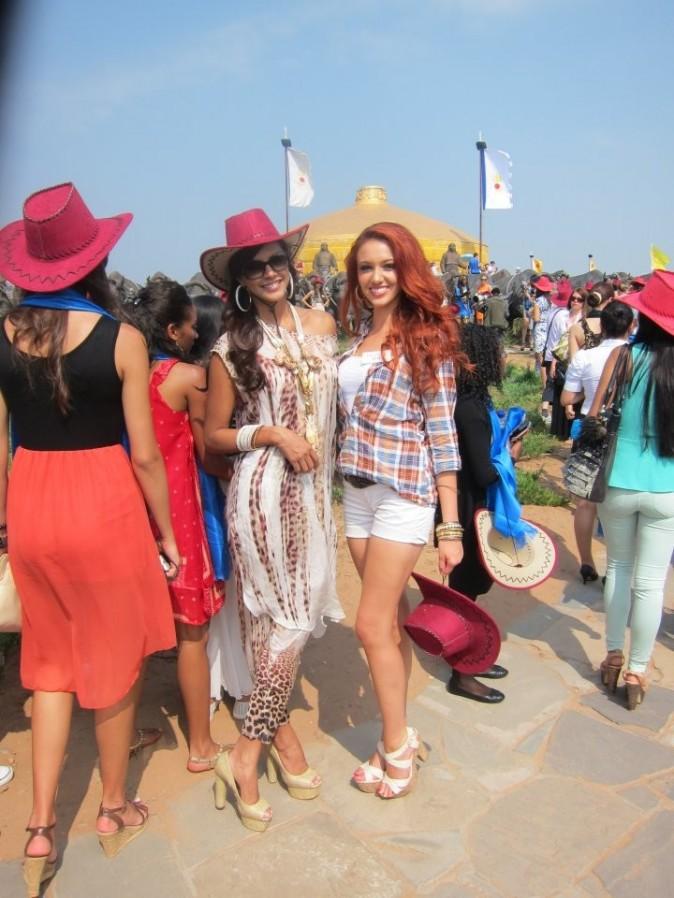 Avec Miss Monde 2011