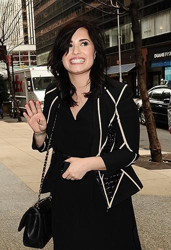 Demi Lovato à New-York le 11 avril 2013