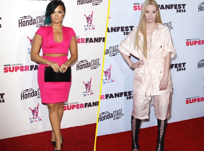 Demi Lovato et Iggy Azalea le 8 octobre 2014
