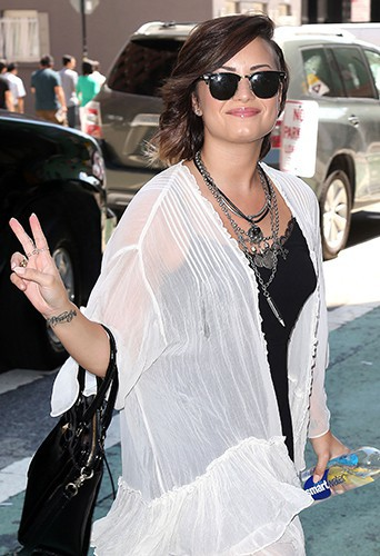 Demi Lovato à New York le 14 août 2014