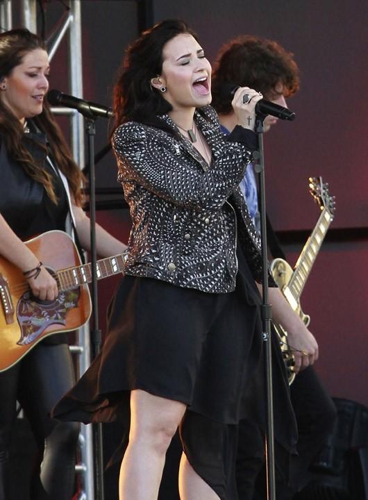 Demi Lovato chez Jimmy Kimmel, à West Hollywood, le 1er avril 2013