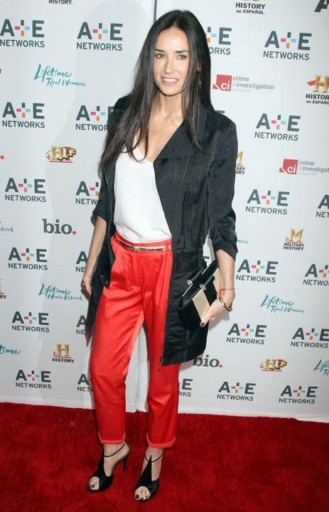 Demi Moore lors de la soirée A&E Television Networks à New York, le 04 mai 2011.
