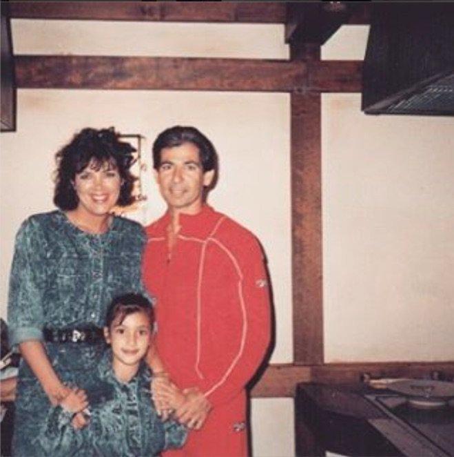 Kim Kardashian et ses parents il y a bien longtemps!