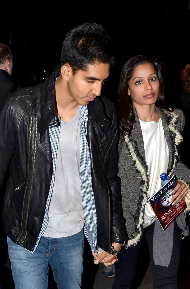 Les tourtereaux Dev Patel et Freida Pinto !