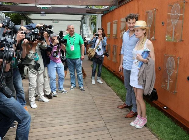 Joshua Jackson et Diane Krüger à Roland-Garros le 31 mai 2012 !