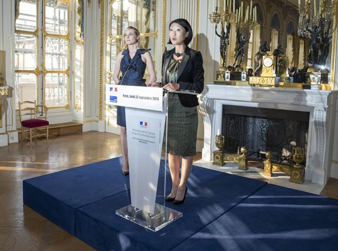Diane Kruger et Fleur Pellerin à Paris le 22 septembre 2014
