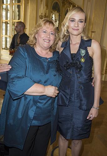 Diane Kruger et sa mère Maria-Theresa à Paris le 22 septembre 2014