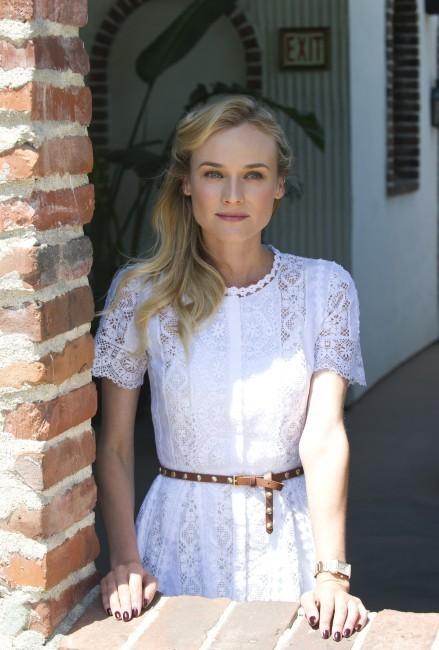 """Diane Kruger lors du photocall du film """"Les Adieux à la reine"""" à Hollywood, le 25 juillet 2012."""